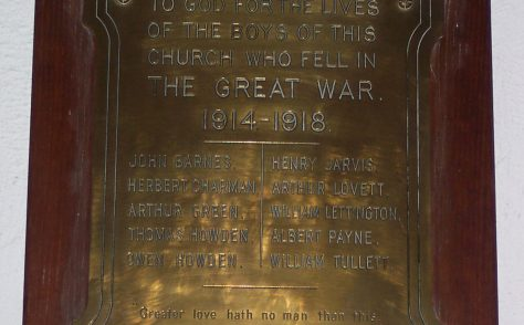Keston Methodist Church War Memorial