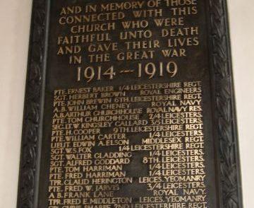 Bishop Street Methodist Church Memorials