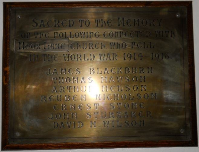 Moor Lane Memorial   click to enlarge