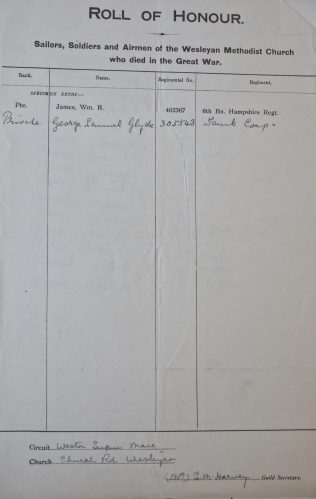 Church Road, Worle, Weston-super-Mare Roll of Honour. Methodist Archive and Research Centre (reference MA 8030 item 108)   Trustees for Methodist Church Purposes, 2016