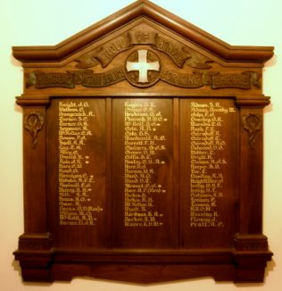 Melville Street WW1 Roll of Honour | click to enlarge
