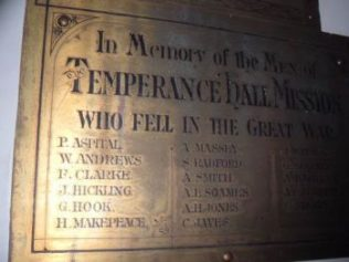 Memorial from Temperance Hall, Leicester, now at Bishop Street | Robin Stevenson