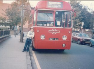Fred's bus propped up by Matthew Willock c1985 | Andrew Willock (click to enlarge)