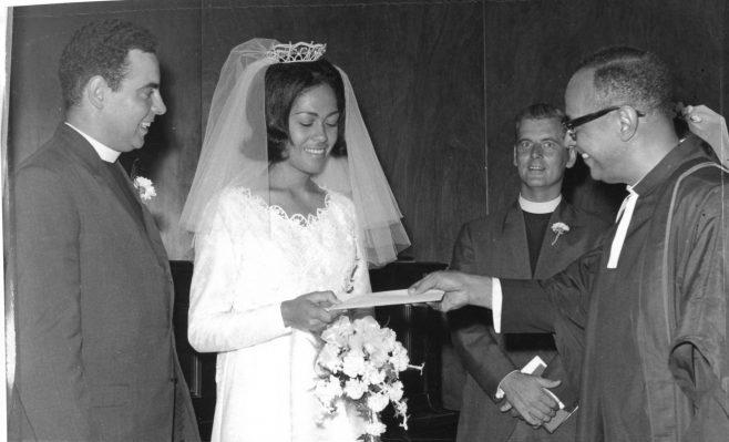 Derek, Paulette, Rev Eric Patton, Rev Atherton Didier | click to enlarge