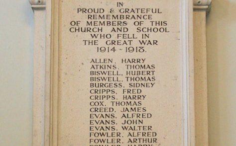 Waddesdon Methodist Church War Memorials