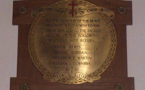 Milton Damerel Methodist Church War Memorial & Roll of Honour.