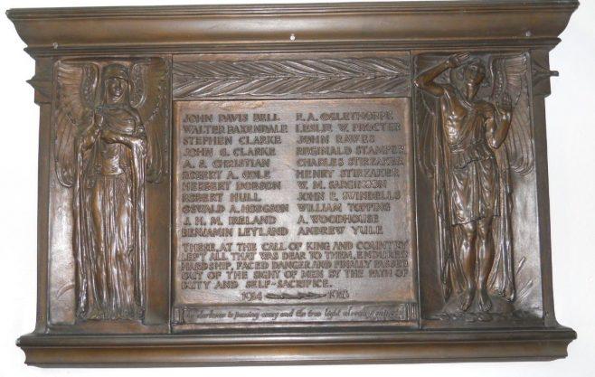 Wesley Methodist Church memorial   click to enlarge