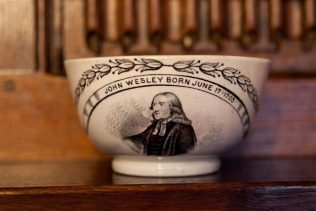 John Wesley commemorative bowl