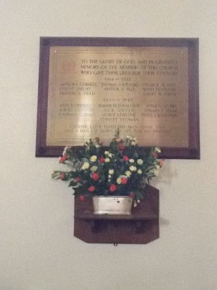The War Memorial at High Street Methodist Church, Harpenden